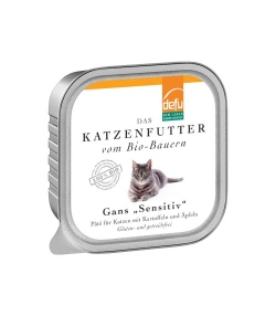 BIO-Pâté mit Gans, Kartoffeln & Äpfeln für erwachsene Katze – 100g – Defu