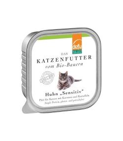 BIO-Pâté mit Huhn, Karotten & Kartoffeln für erwachsene Katze – 100g – Defu