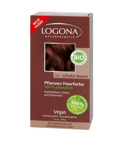 BIO-Pflanzen-Haarfarbe Pulver 091 Schoko-Braun - 100g – Logona