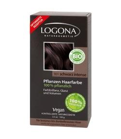 BIO-Pflanzen-Haarfarbe Pulver 101 Schwarz Intense - 100g – Logona