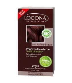 BIO-Pflanzen-Haarfarbe Pulver 092 Kaffee-Braun - 100g – Logona