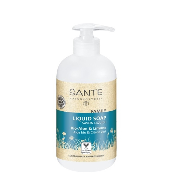 Family BIO-Flüssigseife Aloe & Limette - 200ml - Sante