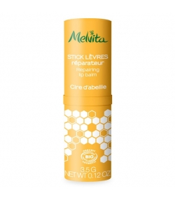 Stick lèvres réparateur BIO cire d'abeille lèvres sèches - 3,5g - Melvita Apicosma