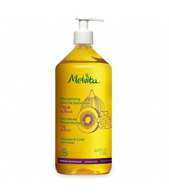 Shampooing douche extra-doux BIO figue & kiwi - 1l - Melvita