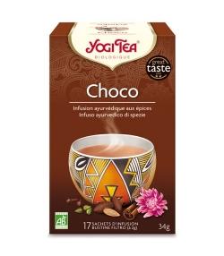 BIO-Kräutertee mit Kakaoschalen, Zimt & Ingwer – Schoko – 17 Teebeutel – Yogi Tea