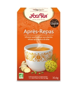 BIO-Kräutertee mit Kardamom, Fenchel & Ingwer – Nach dem Essen Tee – 17 Teebeutel – Yogi Tea