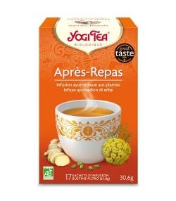 Infusion de cardamome, fenouil & gingembre BIO – Après-Repas – 17 sachets – Yogi Tea