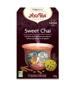 BIO-Kräutertee mit Anis, Süssholz & Fenchel – Sweet Chai – 17 Teebeutel – Yogi Tea