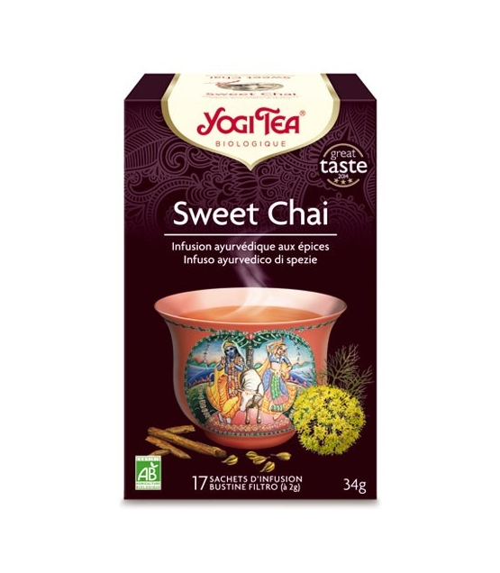 BIO-Kräutertee mit Anis, Süssholz & Fenchel - Sweet Chai - 17 Teebeutel - Yogi Tea