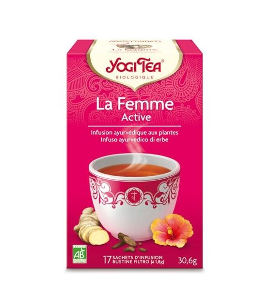 BIO-Frauentee mit Hibiskus, Angelikawurzelextrakt & Ingwer – Frauen Power – 17 Teebeutel – Yogi Tea