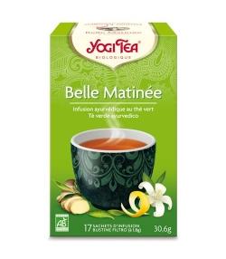 BIO-Grüntee mit Jasmin, Ingwer & Zitronenschalen – Grüner Morgen – 17 Teebeutel – Yogi Tea