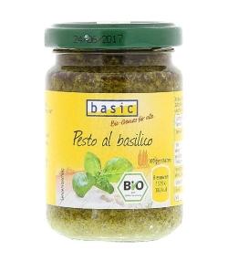 Sauce pesto au basilic BIO - 130g - Basic