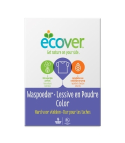 Lessive poudre écologique pour linge de couleur Colora lavande – 16 lavages – 1,2kg – Ecover