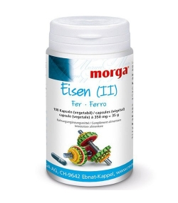 Eisen - 100 Kapseln - 350mg - Morga