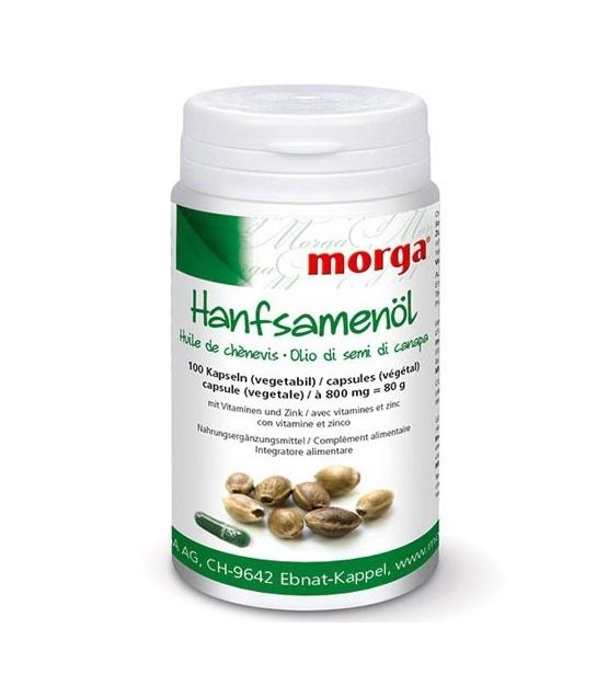 Huile de chènevis - 100 capsules - 800mg - Morga