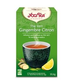 BIO-Grüntee mit Ingwer & Zitrone – 17 Teebeutel – Yogi Tea