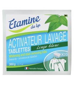 Tablettes blanchissant-détachant écologique – 20 tablettes – Etamine du lys