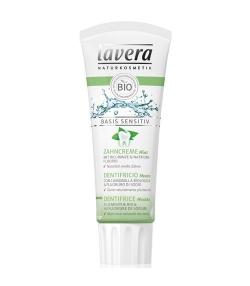 Dentifrice BIO menthe & fluorure de sodium – 75ml – Lavera Basis Sensitiv