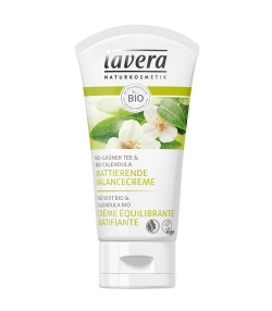 Crème équilibrante matifiante BIO thé vert & calendula - 50ml - Lavera