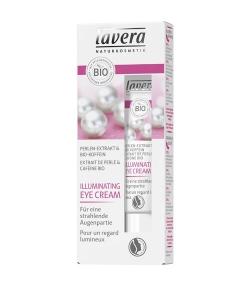 Crème pour les yeux illuminatrice BIO extrait de perle & caféine - 15ml - Lavera