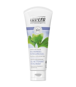 Gel nettoyant revigorant BIO ginkgo biloba & raisin – 100ml – Lavera Faces