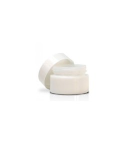Pot en verre blanc pour baume 15ml avec couvercle - 1 pièce - Farfalla