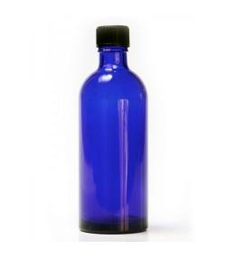 Blauglas Flasche 100ml mit Verschluss - 1 Stück - Farfalla