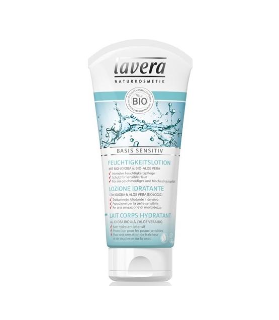 Lait corps hydratant BIO jojoba & aloe vera – 200ml – Lavera Basis Sensitiv