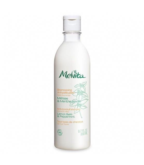 Shampooing anti-pelliculaire BIO mélisse & menthe poivrée - 200ml - Melvita