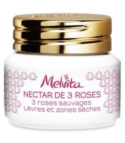 Nectar de 3 roses BIO lèvres & zones sèches - 8g - Melvita Nectar de Roses