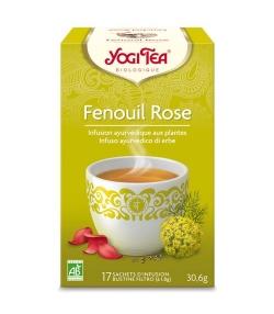 BIO-Kräutertee mit Fenchel & Rosenblüten – Fenchel mit Rose – 17 Teebeutel – Yogi Tea