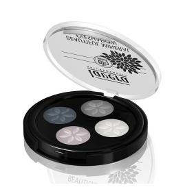 Quatre ombres à paupières brillantes BIO N°01 Smoky Grey - 4x0,8g - Lavera