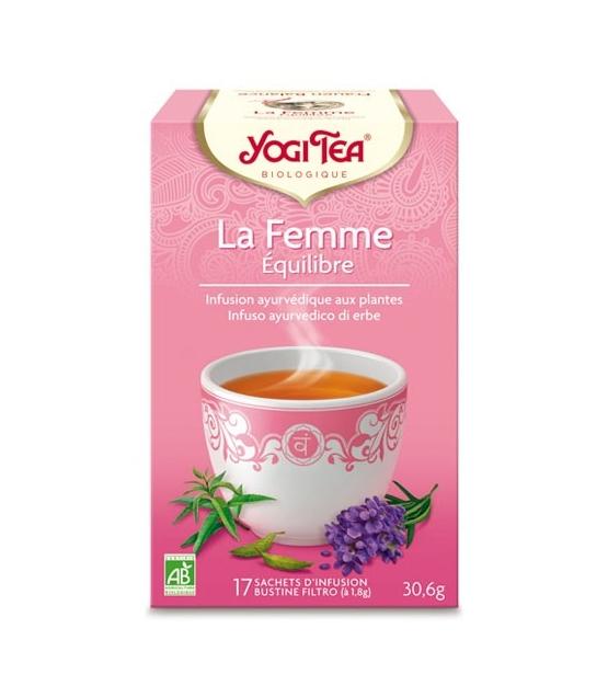 BIO-Frauentee mit Himbeerblätter, Zitronenverbene & Lavendel - Frauen Balance - 17 Teebeutel - Yogi Tea