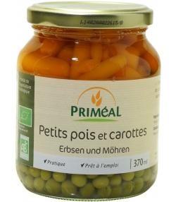 Petits pois et carottes en conserve BIO - 370ml - Priméal [FR]