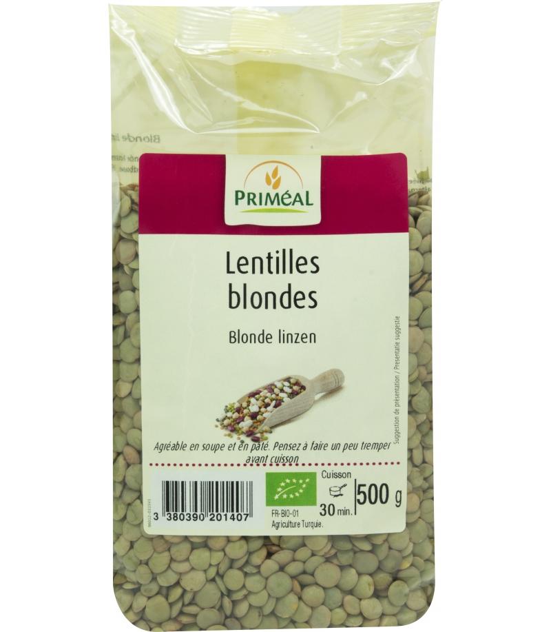 Lentilles blondes bio 500g prim al fr green - Comment cuisiner des lentilles blondes ...