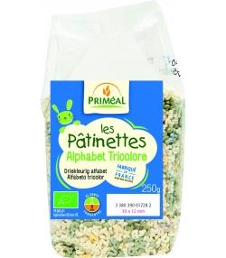 Alphabet tricolore de blé dur les pâtinettes BIO - 250g - Priméal