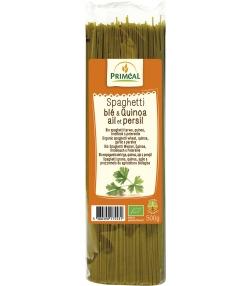 Spaghettis de blé dur au quinoa, à l'ail & au persil BIO - 500g - Priméal