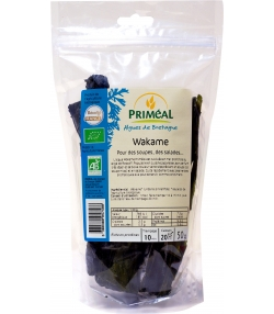 Wakamé algue brune en feuilles BIO - 50g - Priméal
