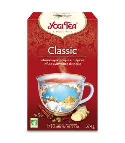 BIO-Kräutertee mit Zimt, Ingwer & Kardamom – Classic – 17 Teebeutel – Yogi Tea