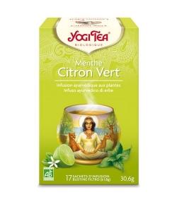 BIO-Kräutertee mit Zitrone & Pfefferminze – Lemon Mint – 15 Teebeutel – Yogi Tea