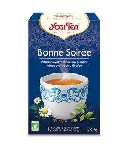 Infusion de fenouil, camomille & houblon BIO – Bonne Soirée – 17 sachets – Yogi Tea