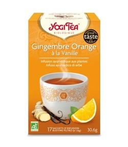 BIO-Kräutertee mit Ingwer, Orangenschalen & Vanille – Ingwer Orange Vanille – 17 Teebeutel – Yogi Tea