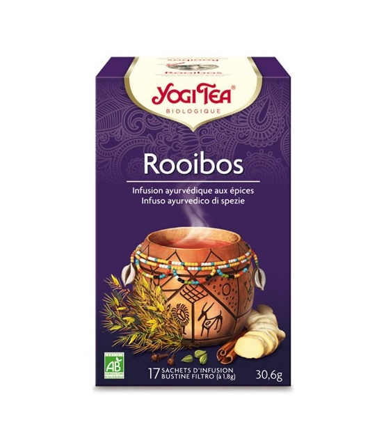 BIO-Kräutertee mit Rotbusch – Rooibos – 17 Teebeutel – Yogi Tea