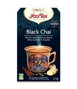 BIO-Schwarztee mit Gewürzen – Black Chai – 17 Teebeutel – Yogi Tea