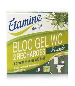 Recharges bloc gel WC écologique pin & eucalyptus – 2x50ml – Etamine du lys