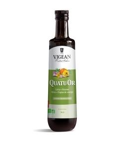 Huile de colza, sésame, olive & pépins de courge BIO – QuatuOr – 50cl – Vigean