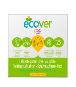 Ökologische Tabs für Spülmaschinen Citrus – 25 Waschgänge – 500g – Ecover