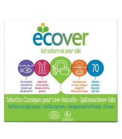 Ökologische Tabs für Spülmaschinen Citrus – Classic – 70 Waschgänge – 1,4kg – Ecover