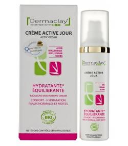 Crème active jour hydratante & équilibrante BIO acérola & mélisse - 50ml - Dermaclay