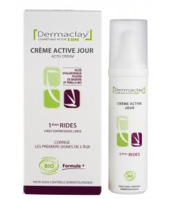 Crème active jour 1ères rides BIO acide hyaluronique & figuier de barbarie - 50ml - Dermaclay